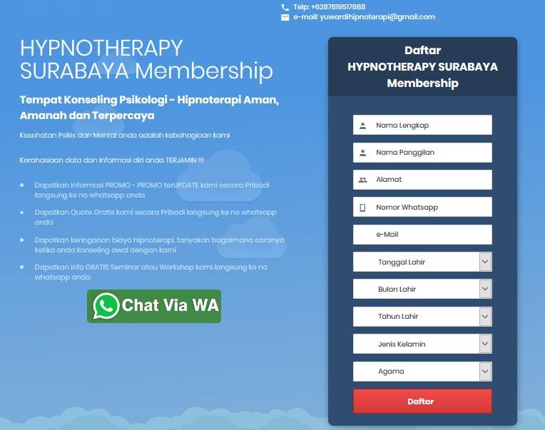 Booking Jadwal Klien Hypnotherapy Surabaya